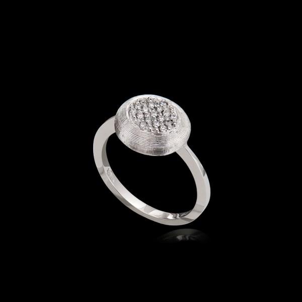 Δαχτυλίδι σε Λευκόχρυσο με Διαμάντια
