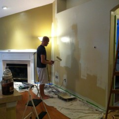 Painting Walls Different Colors Living Room Furniture Arrangement Ideas The And Kitchen Mace Place Photo 16 Color That Was Originally On Two Shades Painted