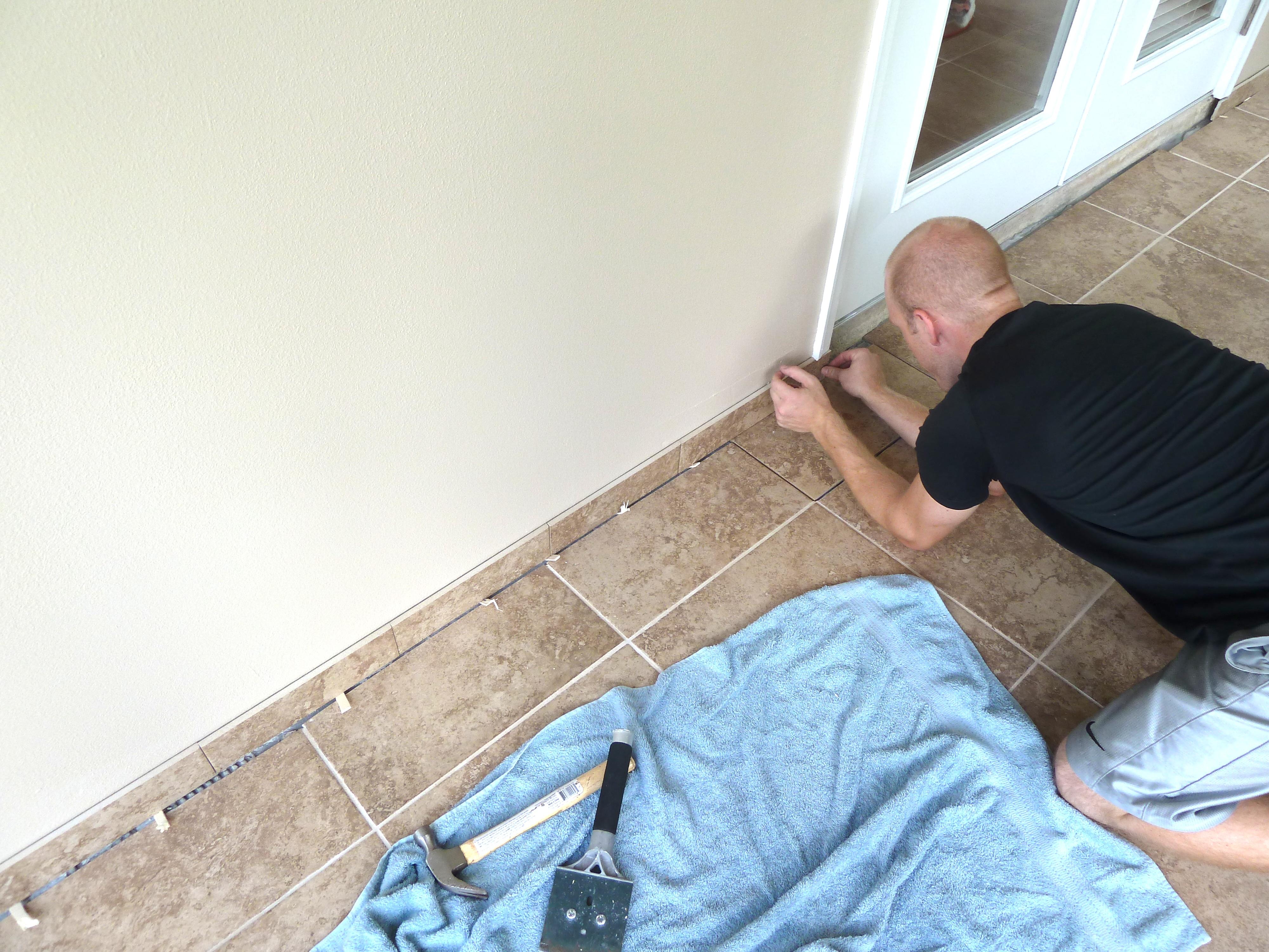 installing tile trim the mace place