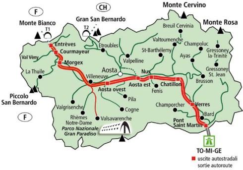 Aosta e tutta la vallata capoluogo di Regione  nessunapretesa