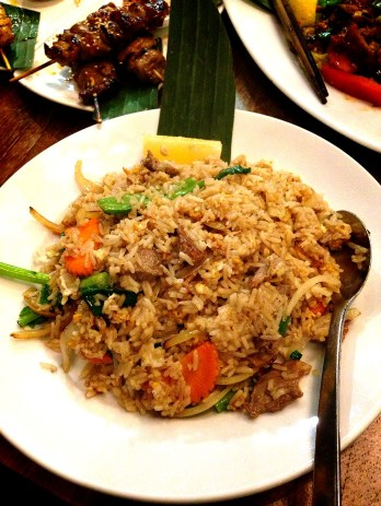 Fried rice with beef ($15.50)