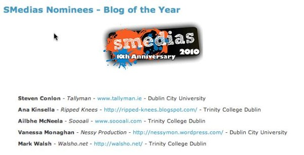 blog of the year nomination