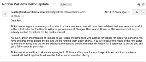 RobbieWilliams Ballot Update