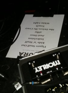 Shura setlist In Bleach Brighton photo © nessymon.com
