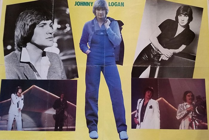 Original Johnny Logan Poster from 1980 as from my treasure trove box of goodies ©nessymon