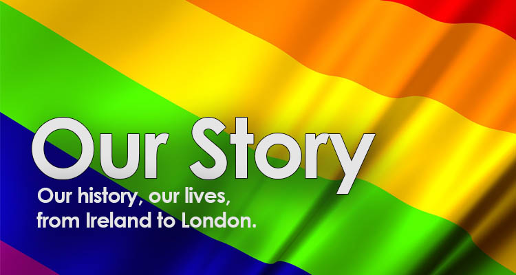 Flag with OurStory - London Irish LGBT Network