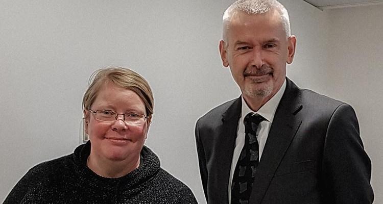Nessy and Ambassador Adrian O'Neill