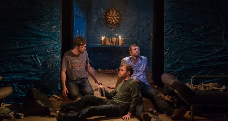Actors on stage for Flights by John O'Donovan
