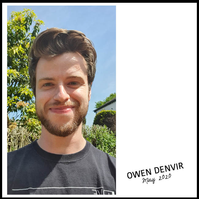 Owen Denvir selfie with a tree and blue sky in the background