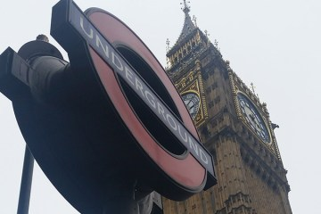 Big Ben and The Underground Sign London