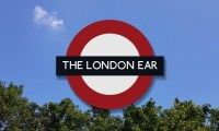 The London Ear logo roundel on a background of a bright blue sky and trees
