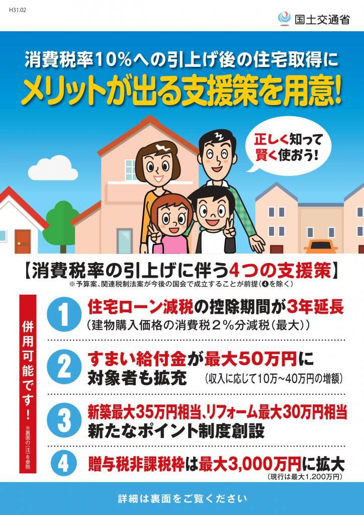 消費税引き上げ後も安心の4つの支援策