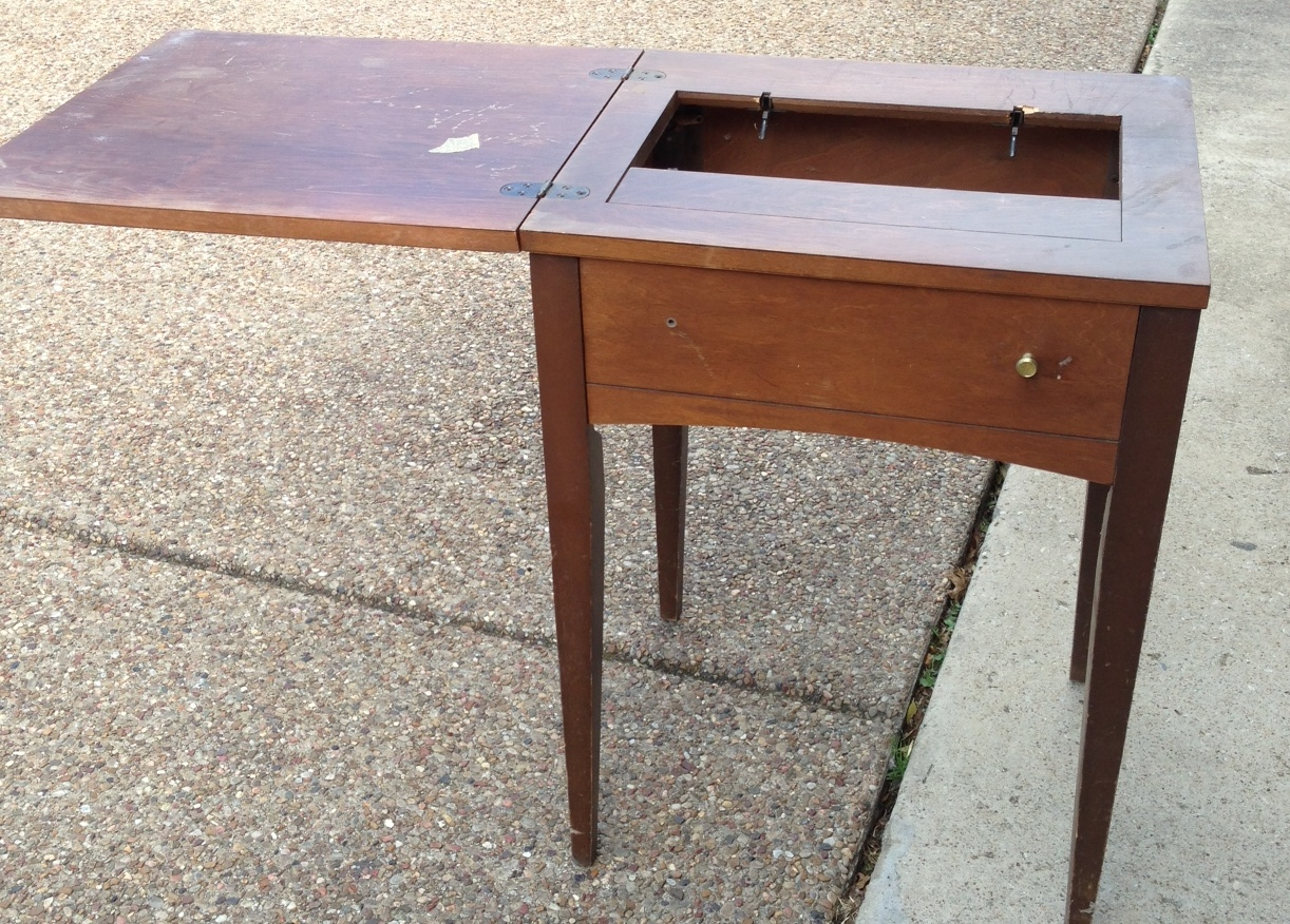 Vintage Sewing Table Turned Beverage Table A Nesters Nest