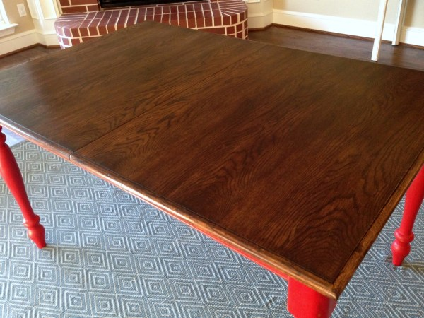 Refinished Oak Farmhouse Table Before After A Nester