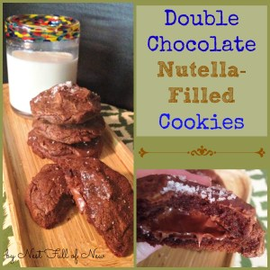 Double Chocolate Nutella-Filled Cookies