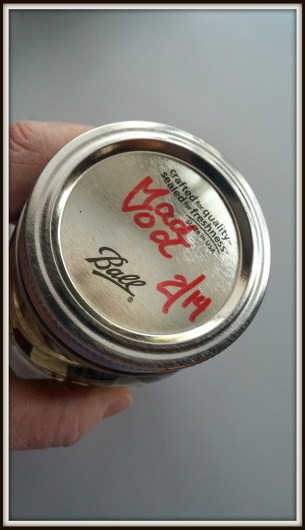 Homemade Vanilla Extract-Label the jar