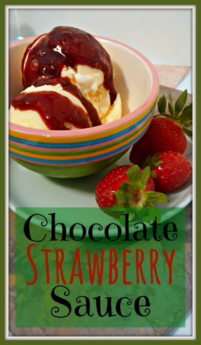 Chocolate Strawberry Sauce Recipe