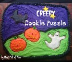 Halloween Puzzle Cookie