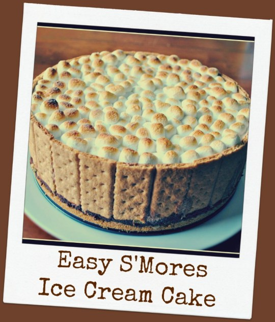 Easy S'mores Ice Cream Cake