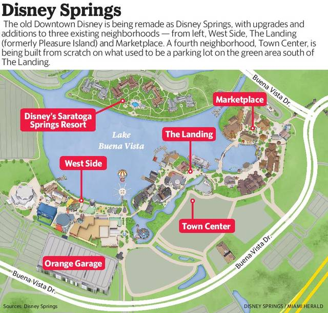 Disney Town Center Map
