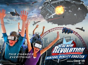 Virtual Reality Coaster Six Flags
