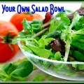 Fresh baby greens salad and tomatoes, salad bowl