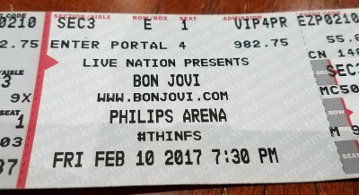 Bon Jovi THINFS Ticket