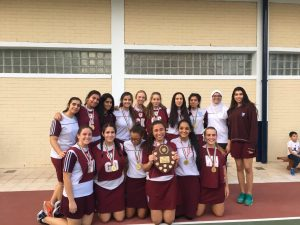 U19 Netball Champions 17/18