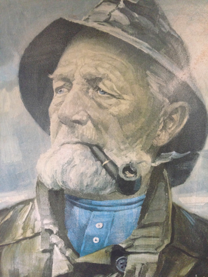 Harry Haerendel Old Seaman Print  SOLD