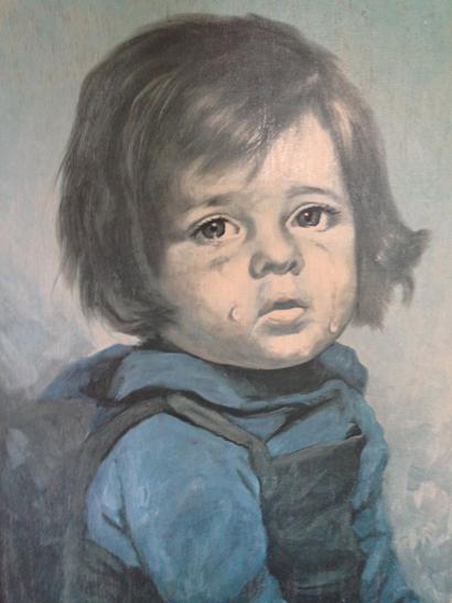 Giovanni Bragolin crying girl Print  SOLD