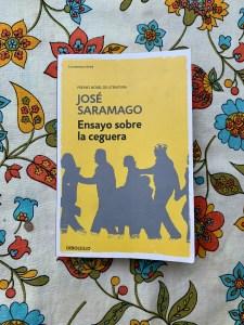 The book Ensayo sobre la ceguera, by José Saramago