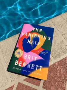 A book by a pool