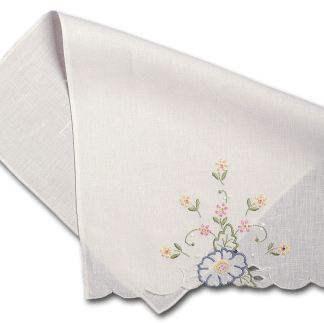 Floral Embroider Guest Towel