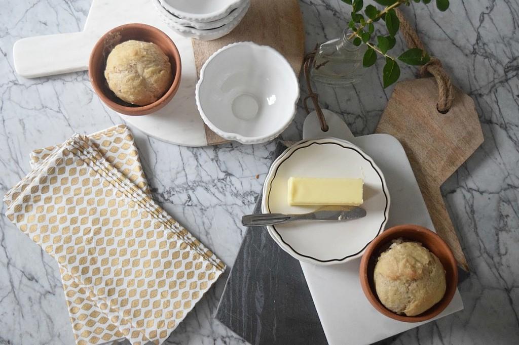 Recipe for bread in flower pots