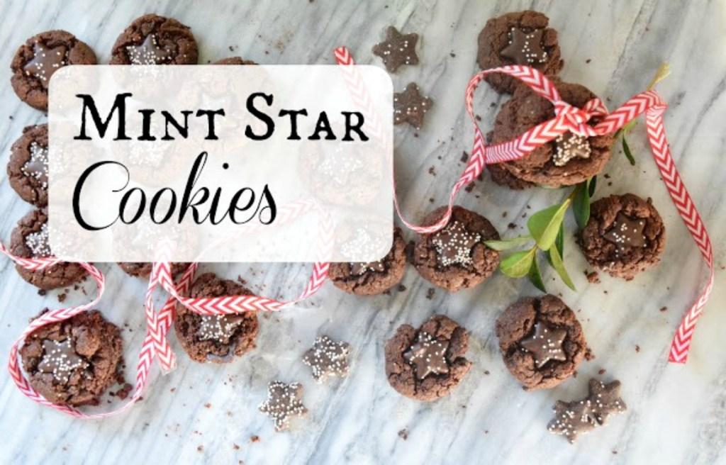 Mint Star Cookies with Trader Joes Mint Stars Recipe