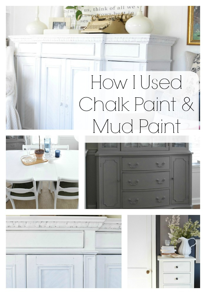 painting with mud paint and chalk paint