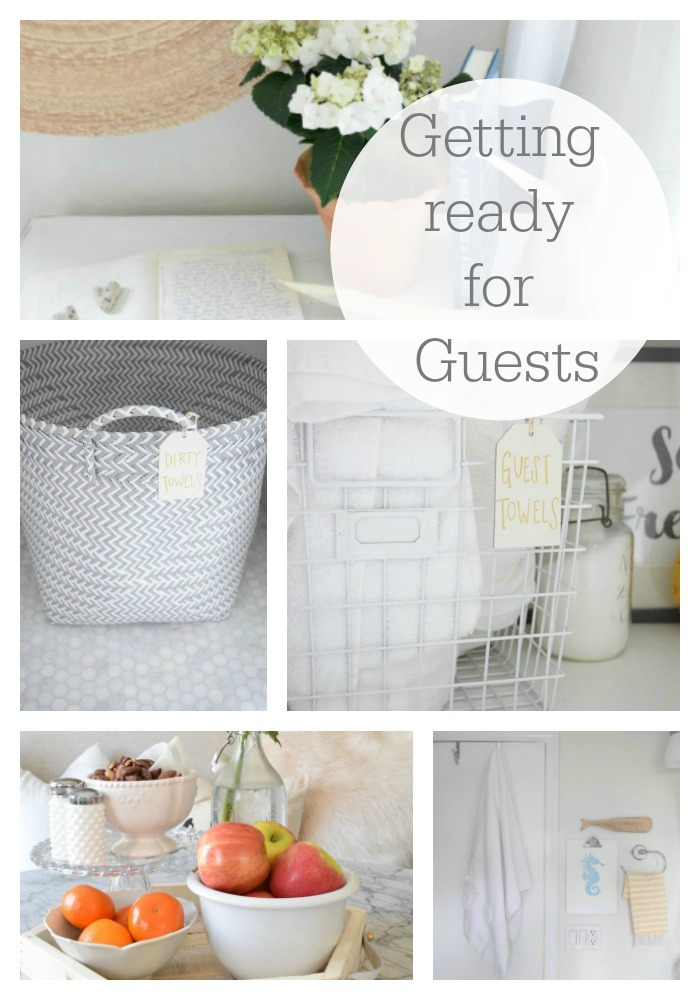 Getting ready for guests and guest room