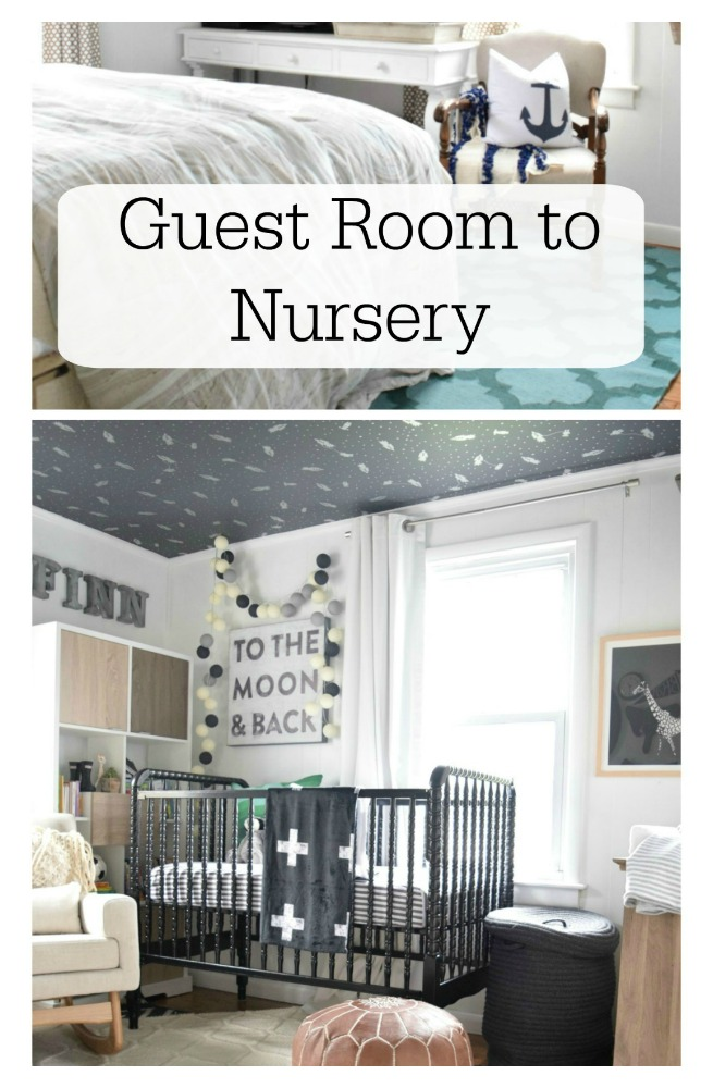 baby boy nursery before and after