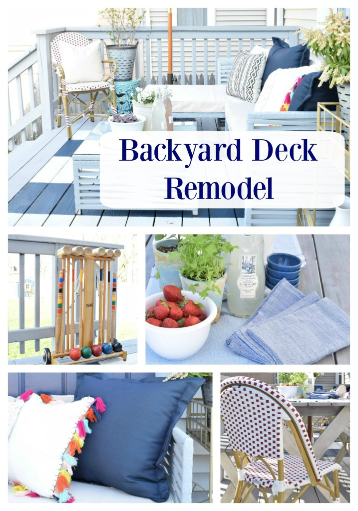 backyard ideas and deck painted