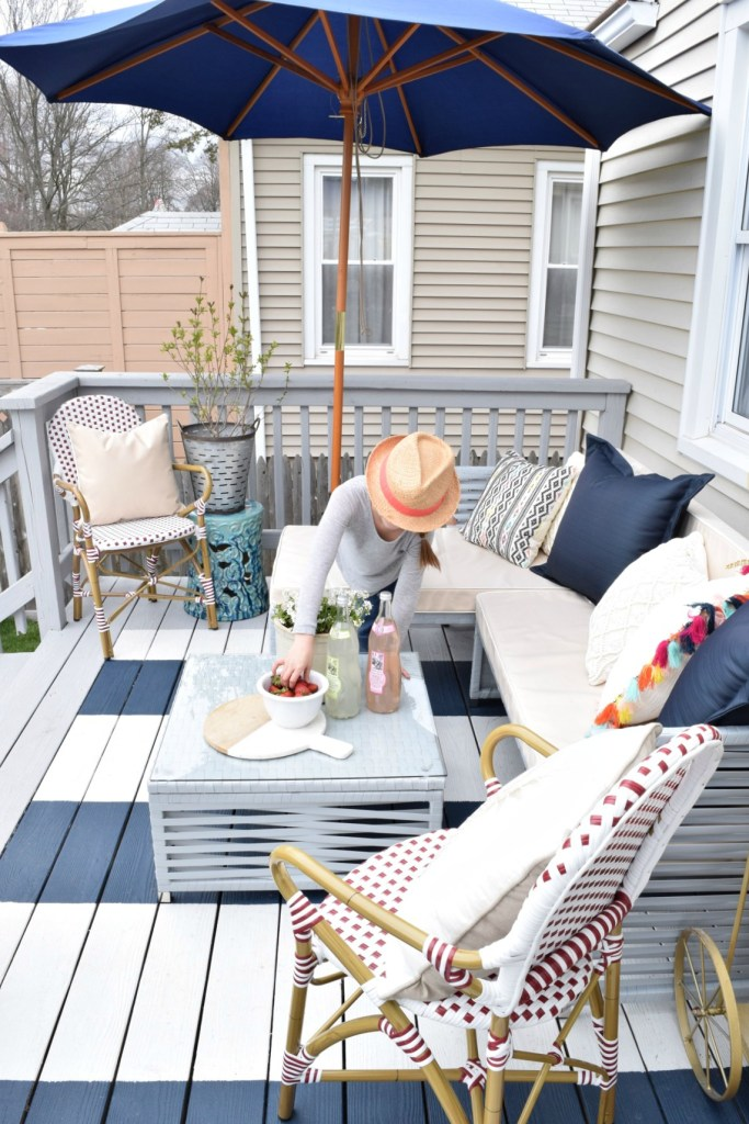 Diy Painted Deck And Decor Nesting With Grace
