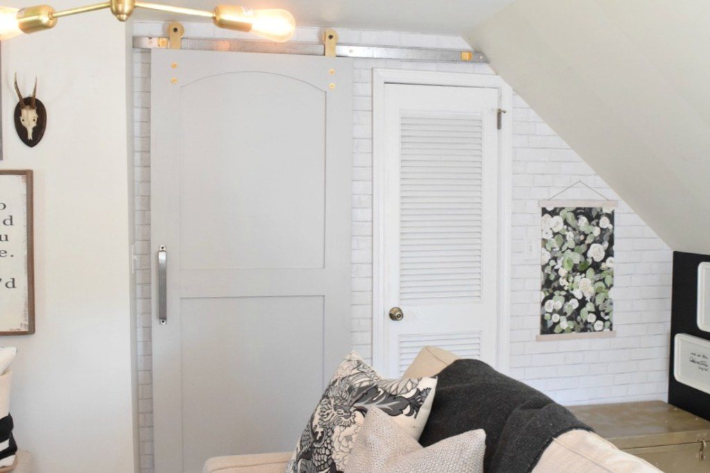 Sliding Barn Track Door in a Tiny House Space Saver