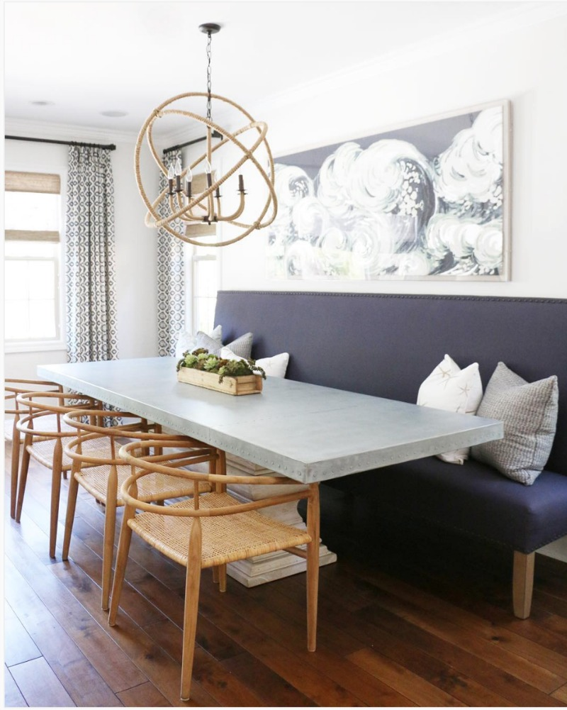 Banquette Style Seating in a Small Space - Nesting With Grace