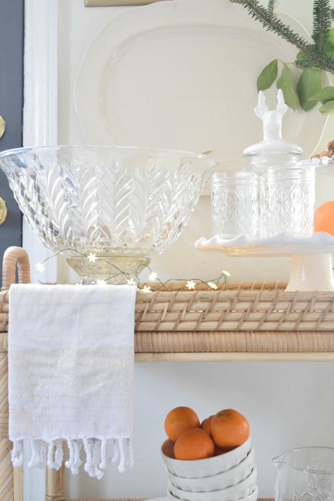 Bar Cart Styling Tips Holiday and Everyday