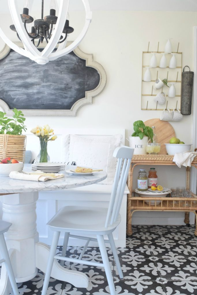 Built In Kitchen Banquette Reveal Nesting With Grace
