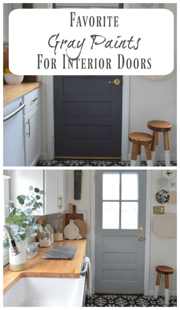 Gray Paint Change Up On Our Interior Kitchen Door Nesting With Grace