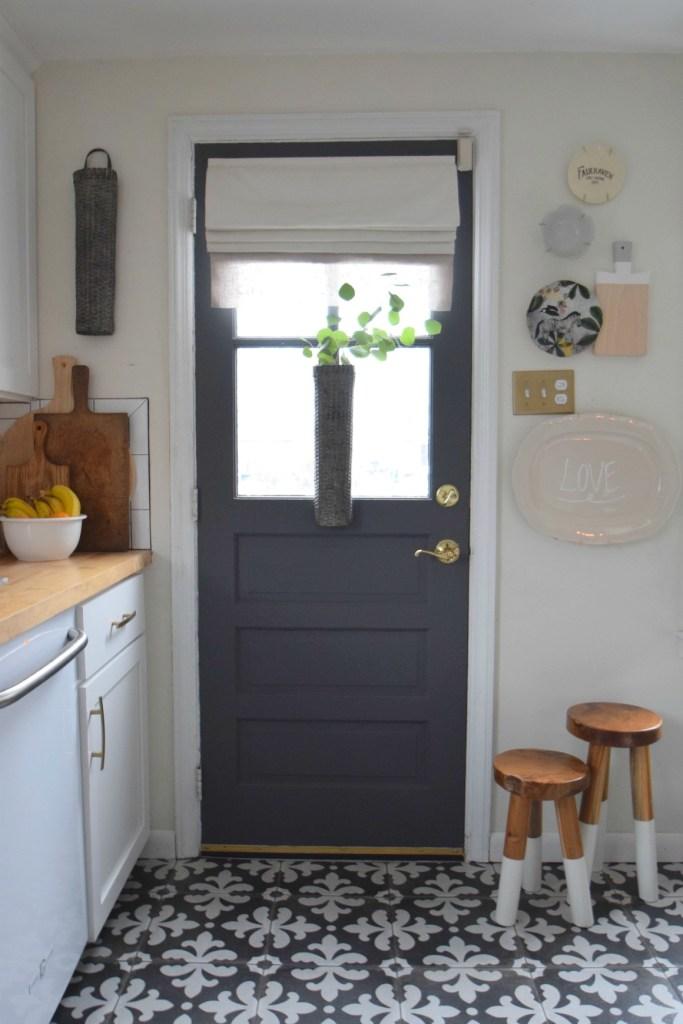 gray paints for interior door - Kitchen Door