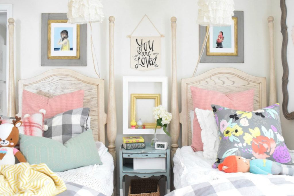 Spring Home Decor Ideas- Spring Home Tour Girls Bedroom