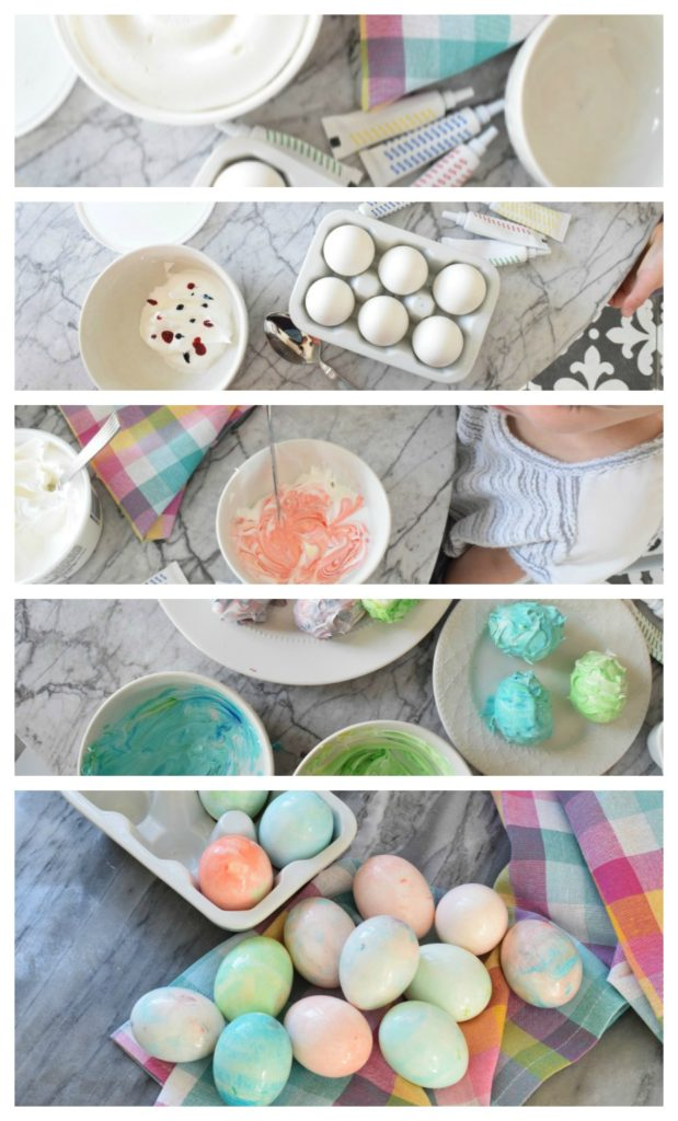 Easter Ideas- Easter Eggs Tie-Dye with Cream