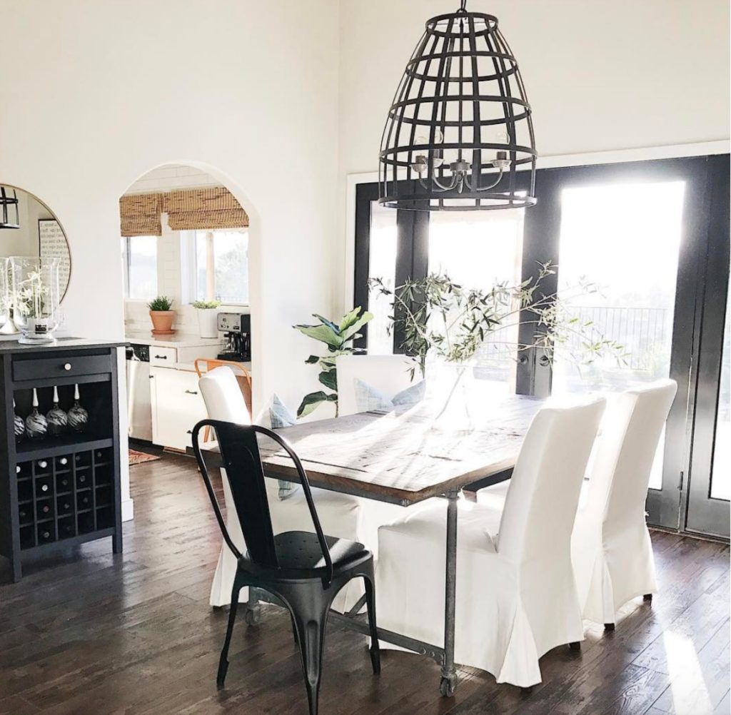 Home Tour- Michelle Janeen Bright White California Home- Dining Room