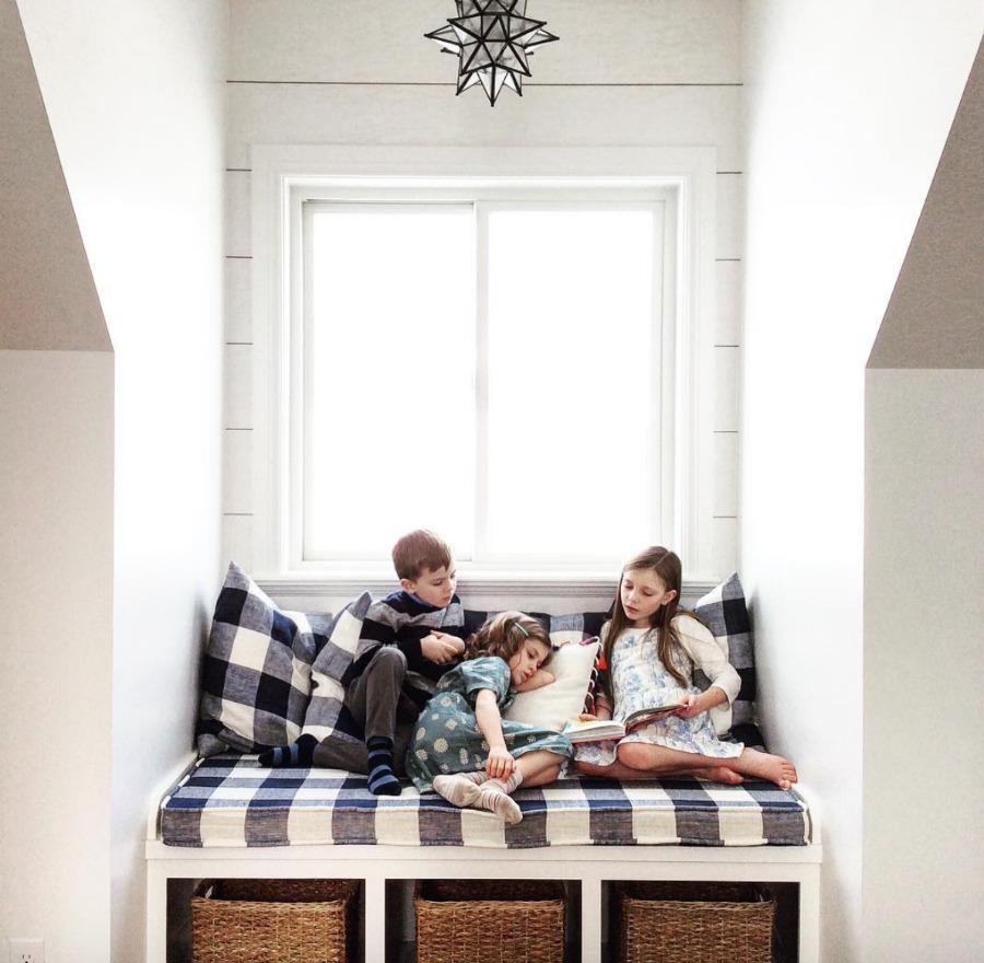 Home Tour- Charming Window Seat and Gorgeous White Kitchen